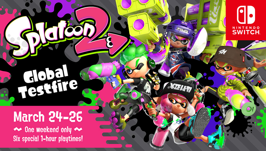 La demo per il Global Testfire di Splatoon 2 è scaricabile