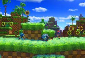 Sonic sfreccia nella Green Hill Zone in Sonic Forces