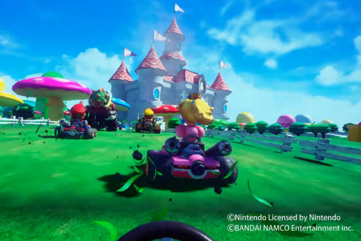 Mario Kart Arcade GP VR si mostra in video