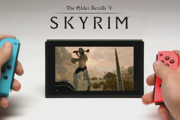 Primo gameplay di The Elder Scrolls V: Skyrim su Switch in modalità portatile
