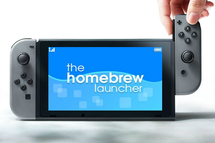 Homebrew Launcher in esecuzione su Nintendo Switch!