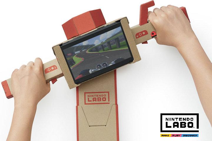 Nintendo Labo: montiamo e diamo gas alla moto!