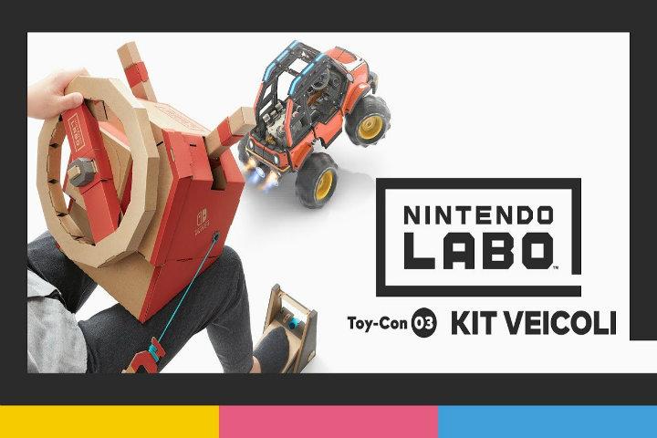Nintendo ci mostra in video le caratteristiche del nuovo kit Labo dedicato ai veicoli