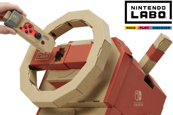 Nintendo Labo: montiamo e proviamo l'auto del Kit 3!