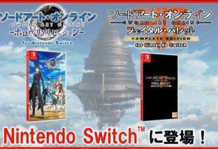 Sword Art Online: Fatal Bullet e Hollow Realization annunciati per Nintendo Switch!