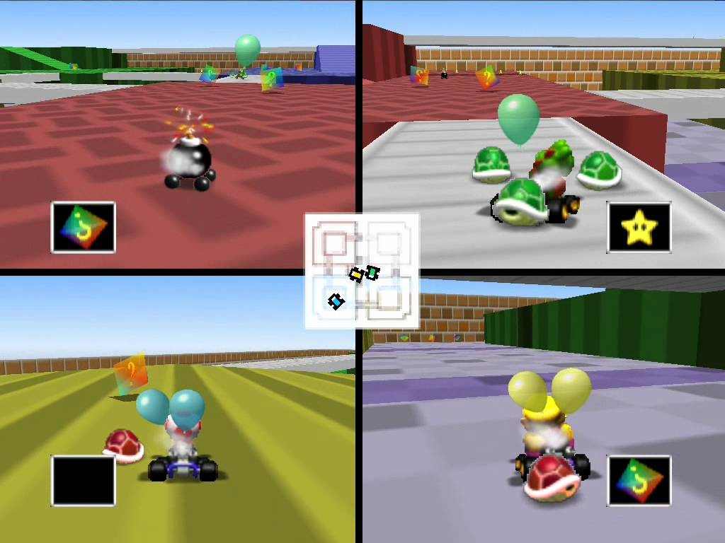 Mario Kart 64 Battle mode