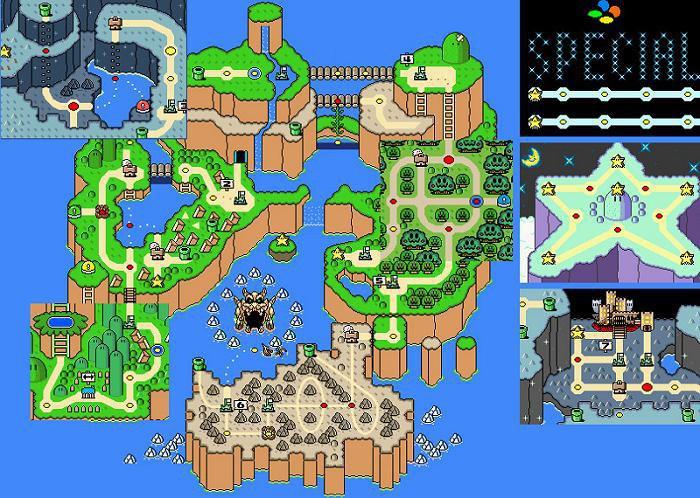 Super mario wolrd map