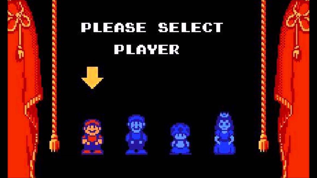 player select super mario bros 2