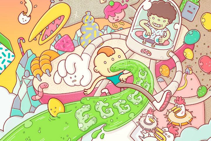 Eggggg – Giochiamo ad un platform letteralmente vomitevole!