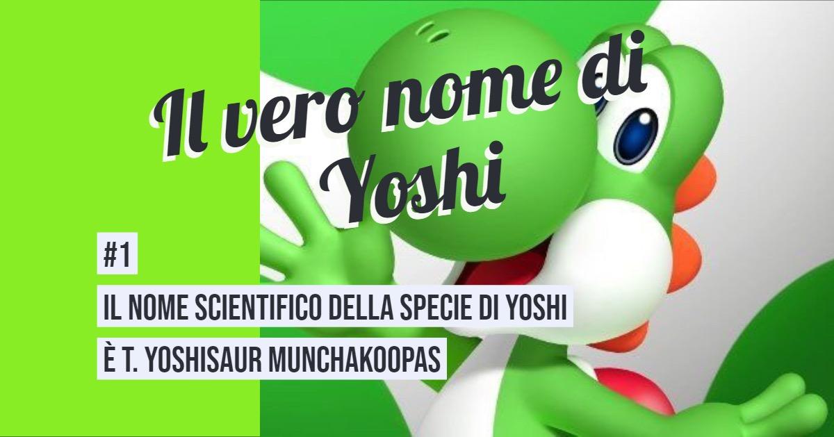 Curiosità su Yoshi 1