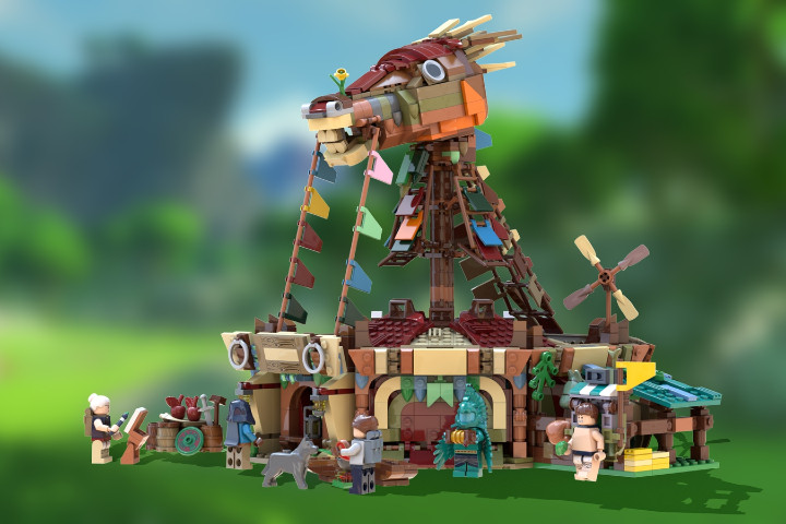 Un fan di The Legend of Zelda: Breath of the Wild riproduce uno stallaggio in versione LEGO