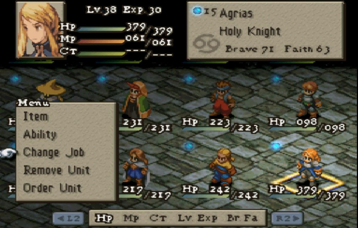 Final Fantasy Tactics gameplay 2