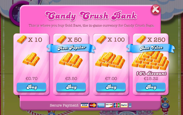Candy Crush bank