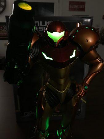 Samus Varia Suit LED ON dark version