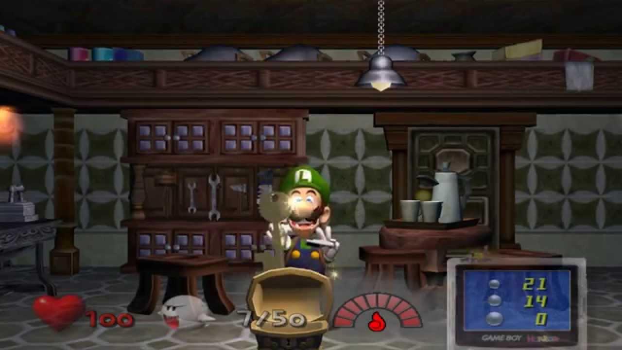 Luigi's Mansion gameplay 2