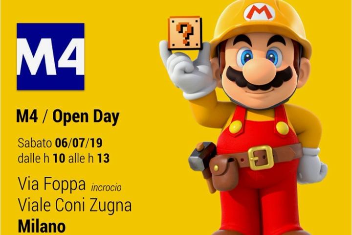 Super Mario in versione umarell ha… supervisionato il cantiere della nuova metropolitana di Milano!