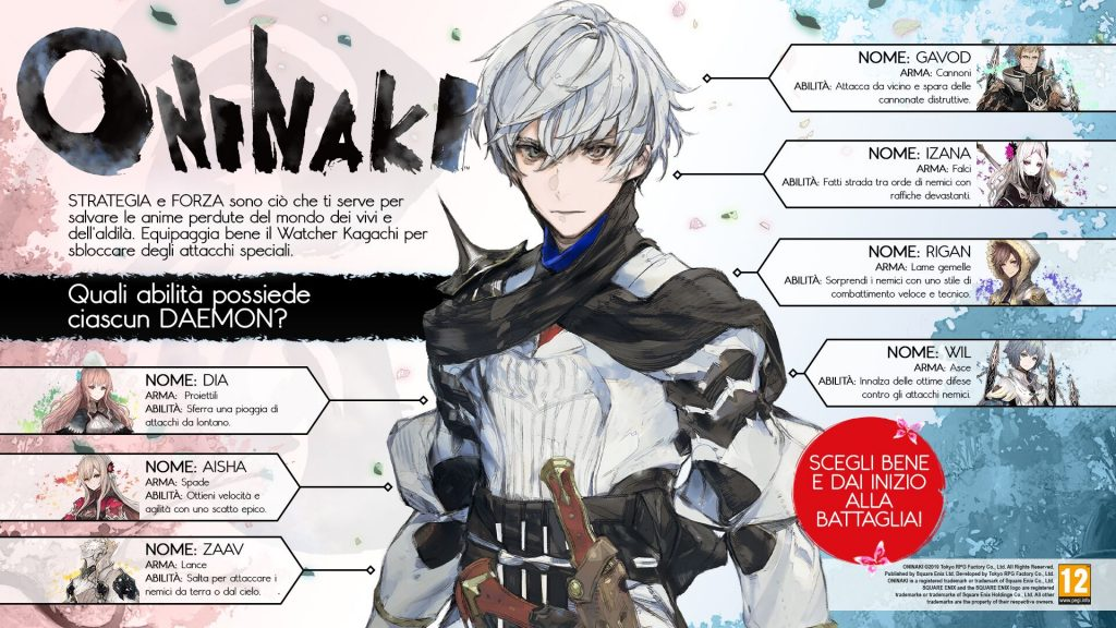 Oninaki infografica sui Daemon