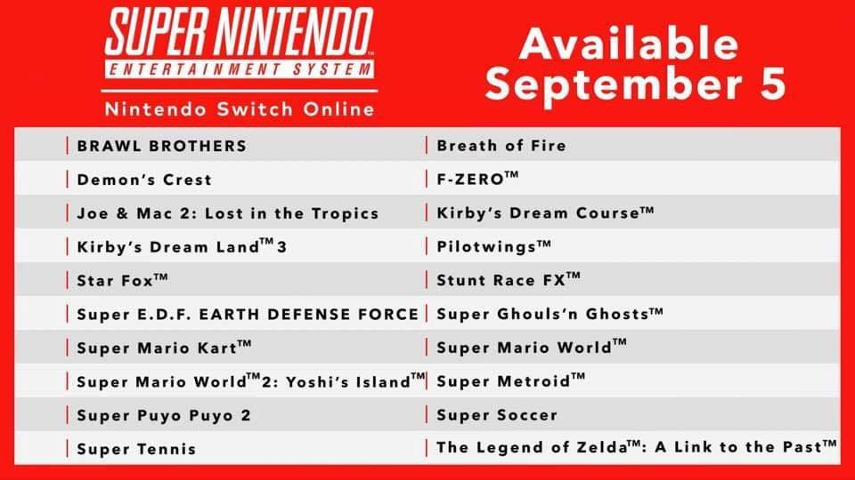 Lista giochi SNES