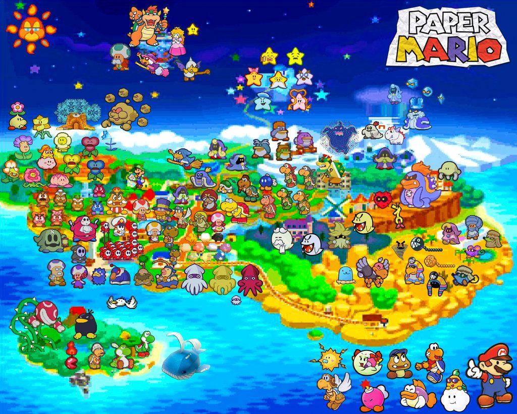 paper mario 64 map