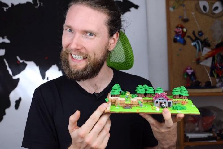 Uno Youtuber realizza una versione in plastilina di una porzione del villaggio Mabe di The Legend of Zelda Link's Awakening