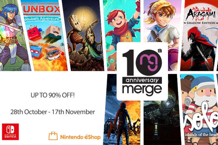 Merge Games festeggia il suo decimo anniversario con un sacco di sconti sul Nintendo Switch eShop