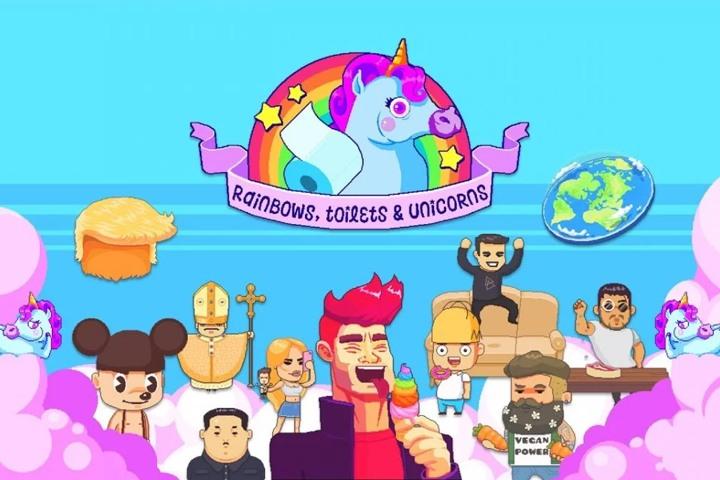 Rainbow, toilets and unicorns – Uno shoot 'em up fuori di testa!