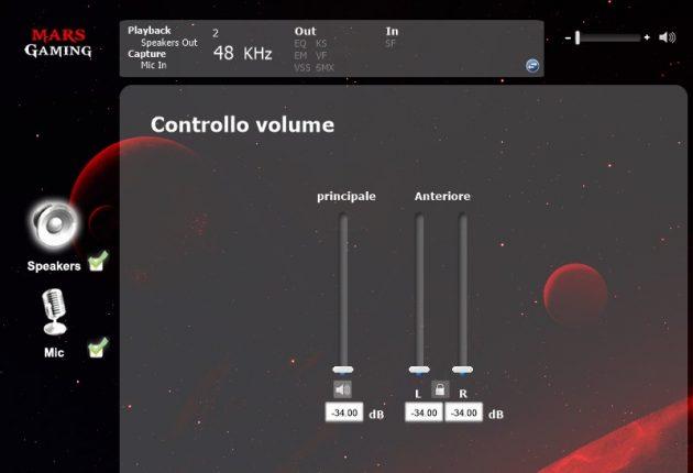 Controllo volume audio in riproduzione.